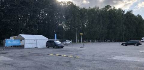 В Тарту открылась вторая палатка для тестирования на коронавирус
