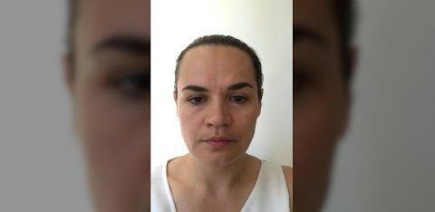 ВИДЕО   Эмоциональное обращение Тихановской. Она срочно покинула Беларусь