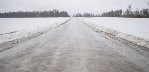 Maanteeamet hoiatab: öösel muutuvad teed väga libedaks!