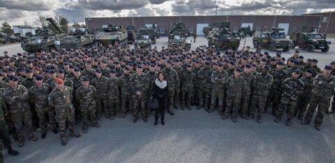"""Франция отправила в Эстонию сотни солдат, танки и БМП для учений НАТО """"Весенний шторм"""""""