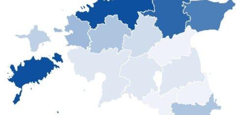 ГРАФИКИ | Смотрите, в каких уездах самая высокая и самая низкая заболеваемость COVID-19