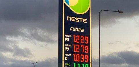 Эстонские заправки одновременно подняли цены на дизель
