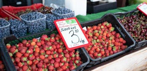 ФОТО | Цены на клубнику на рынке держатся! В прошлом году килограмм ягод можно было купить на евро дешевле