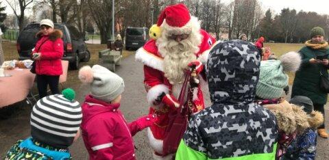 ФОТО: Первый зимний утренник собрал в амфитеатре Хааберсти сотни детей