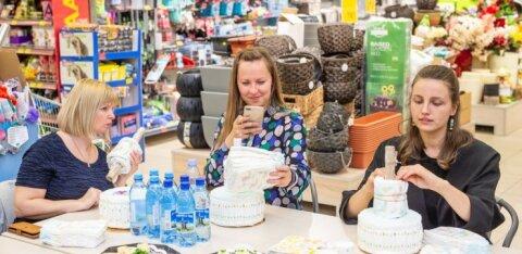 ФОТО: Возможно только в Эстонии! В магазине Maxima в Хааберсти мастерили торты из подгузников