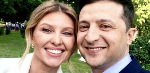 ФОТО: Зеленский за 5 минут до инаугурации выложил селфи с женой