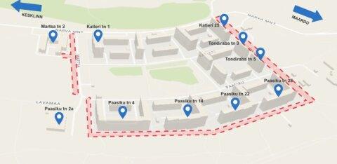 КАРТА: Сегодня в Ласнамяэ начнется ремонт внутриквартальных дорог