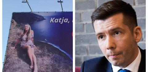 KLÕPS | Värskelt lahutatud Martin Repinski korraldas Jõhvi kesklinnas uuele kallimale armastusavalduse: Katja, ma armastan sind!