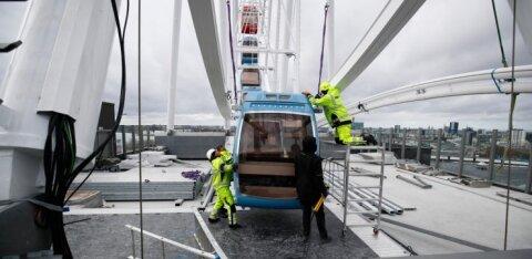ESIMESED FOTOD ja VIDEO | Delfi tegi T1 kaubamaja katusel kõrguva vaaterattaga esimese tiiru