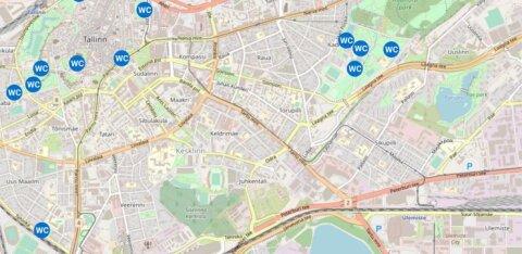 КАРТА | В центре Таллинна установят несколько десятков уличных туалетов