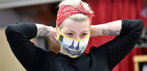 Обуздать вирус в Эстонии помогло бы массовое ношение масок. Хоть самодельных