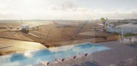 На взлетной полосе аэропорта Нью-Йорка открыли бассейн