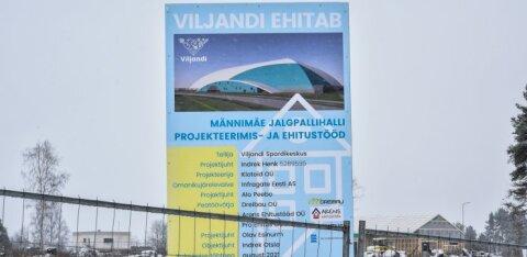 ФОТОНОВОСТЬ: В Вильянди началось сооружение футбольного холла