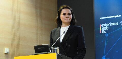 Эстонию посетит представитель белорусской оппозиции Светлана Тихановская