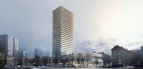 ФОТО   В центре Таллинна построят 30-этажную высотку. На верхних этажах будут квартиры