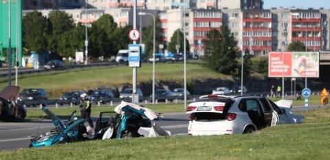 Ужасная авария в Ласнамяэ: арестован водитель Chevrolet, который вместе с BMW мчался по Лаагна теэ