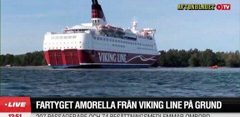 ФОТО | Cудно Viking Line село на мель