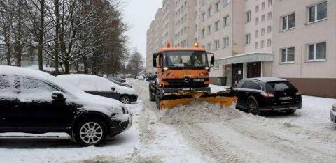 В Кристийне приступили к вывозу снега из дворов: смотрите график работ!