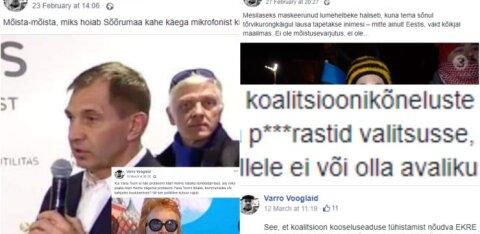 Varro Vooglaid käib mitu korda päevas sotsiaalmeedias õiendamas ja ironiseerimas, teinekord ei puudu ka roppused