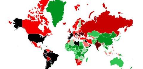 КАРТА | Почти в изоляции: с 28 сентября въезд в Эстонию без ограничений разрешен только из 4 стран Европы