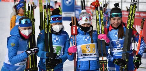 ВИДЕО: Российские биатлонистки неожиданно выиграли эстафету