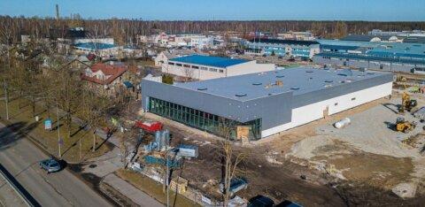 ФОТО | В Пярну строительство магазина Lidl вышло на финишную прямую