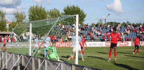 FOTOD | FC Flora sai hooaja esimese kaotuse, Narva Trans aga esimese võidu