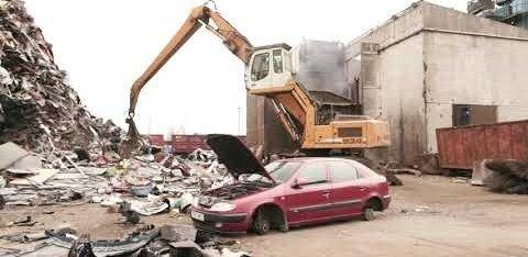 Ühes kuus lastakse metallipurustist läbi mitusada liiklusregistris olevat autot