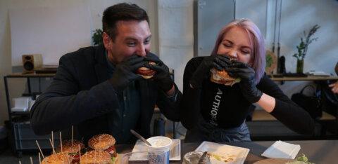 СОЧНОЕ ВИДЕО   Владимир Свет и Алина Захарова продегустировали новый бургер из растительного мяса