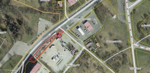 КАРТА | На перекрестке Нарвского шоссе и улицы Турба появится пешеходная дорожка