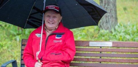 FOTOD JA VIDEO | Kalevi Suursõidu rekordvõitja sai Pirita-Kose ringraja äärde omanimelise pingi