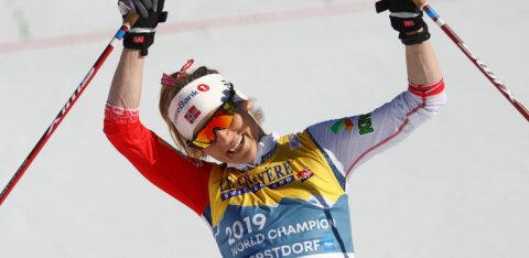 Johaug võitis 10 km vabatehnikasõidu ligi minutilise ülekaaluga