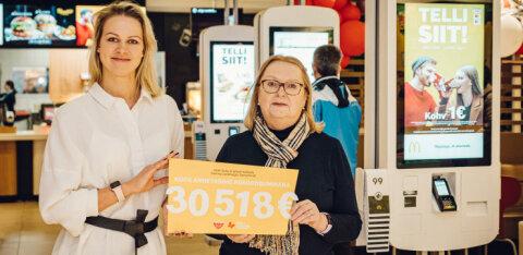 Сеть быстрого питания собрала рекордную сумму для Таллиннской детской больницы