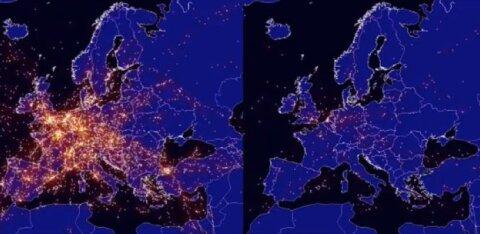 ВИДЕО | Все сидят дома. Как выглядит небо над Европой с разницей в год