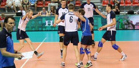 Обидное поражение эстонских волейболистов