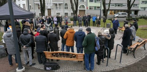 ФОТО | В Таллинне открыт сквер в грузинском стиле