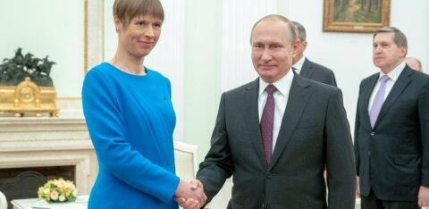 Президент Керсти Кальюлайд пригласила Владимира Путина в Эстонию