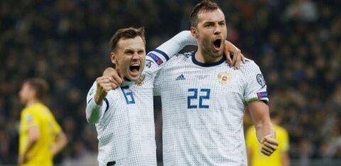 Cборная России одержала первую победу в отборочном цикле