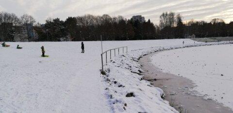 ФОТО | Читатель: куда смотрит управа? Дети могут съехать в воду и провалиться под лёд