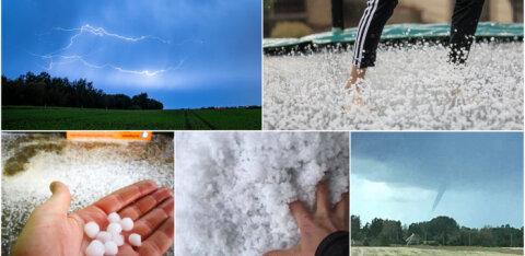 LUGEJA FOTOD ja VIDEO | Ilm läheb üle Eesti väga tormiseks ja võib kujuneda ohtlikuks - juba täna on löönud äikest ja sadanud rahet