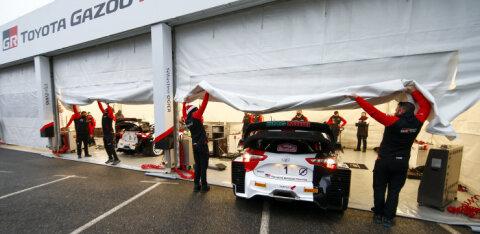 Torm räsis Monte Carlo ralli hooldusparki ja lennutas WRC tiimide telke