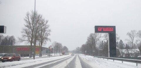 Внимание! На Пярнуском шоссе в Лаагри начинается период больших пробок