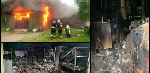 Endise korvpallikoondislase Reinar Halliku maja süttis välgutabamusest ja põles maha