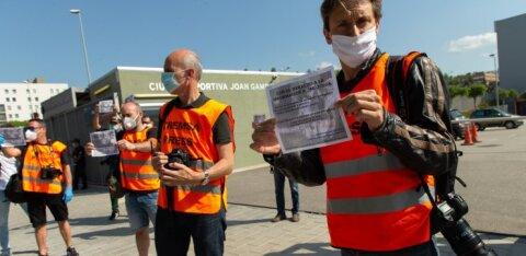 FOTOD | Hispaania spordifotograafid tulid tänavale protestima