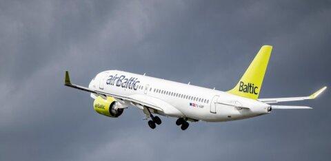 Количество перевезенных из Эстонии пассажиров airBaltic за год снизилось на 67%