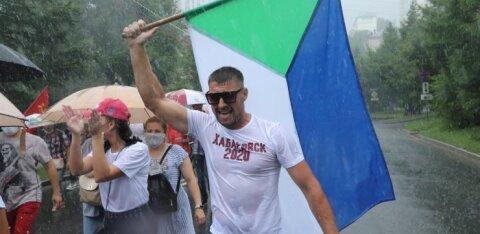 ГАЛЕРЕЯ | Несмотря на проливной дождь, в Хабаровске состоялась 22-я акция в поддержку Сергея Фургала