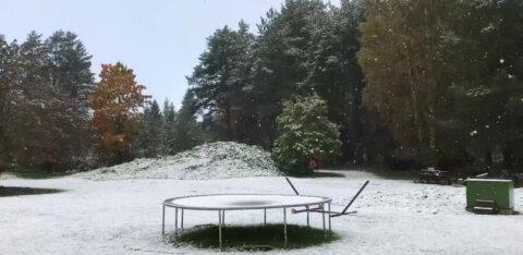 VIDEO ja FOTO | Virumaal sadas maha esimene lumi