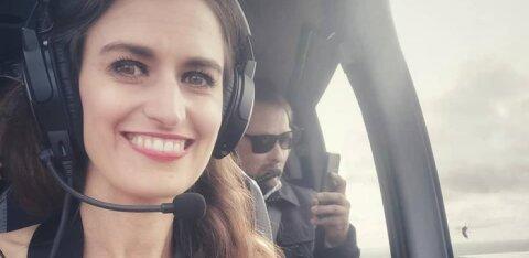 FOTOD | Laulja Triin Lellep käis Oleg Grossi kopteriga linna kohal lendamas