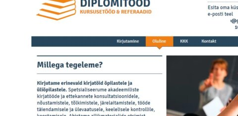 Diplomitööde varikirjutajad reklaamivad end avalikult internetis ja lubavad, et plagiaadisüüdistuste pärast tellijad muretsema ei pea