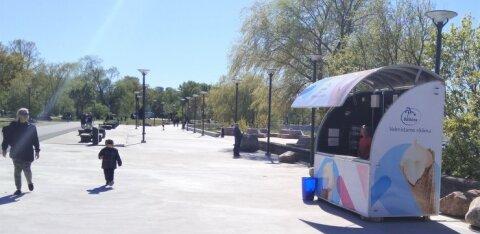 ФОТО | На улице Рейди открыт первый киоск с мороженым